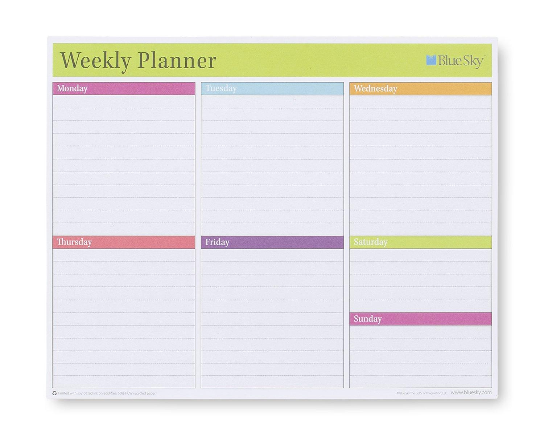 Blue Sky Weekly Planner